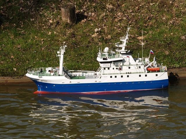 bateau de peche radiocommande