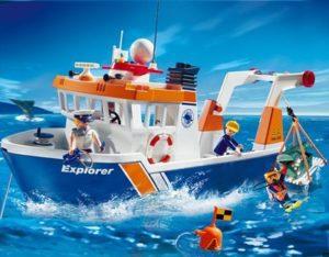 bateau remorqueur City Action Playmobil 9148 utilisation